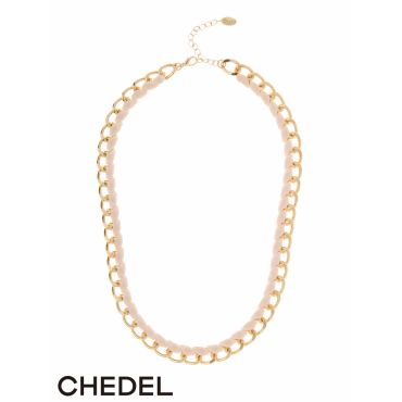 【DATE】レースアップチェーンネックレス/Chedel【シェデル】