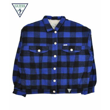 CHECKED BOTTON JACKET / ブルー [MJ4W8335IA]