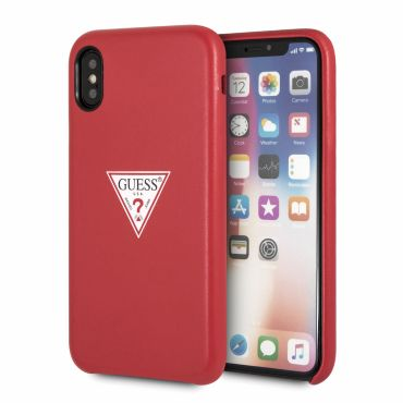 [GUESS] TRIANGLE LOGO CASE for iPhone X (RED)