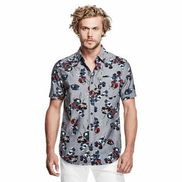 [GUESS] S/S ASTRAL FLORAL PRINT SHIRT