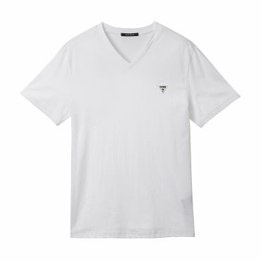 [GUESS] LOGO MINI PATCH V-NECK TEE