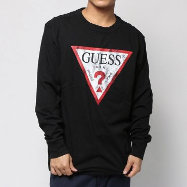 [GUESS] CLASSIC OS LOGO L/S TEE
