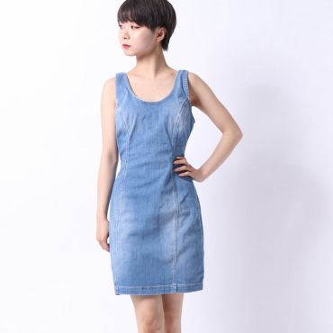 [GUESS] SLEEVELESS CHAMBRAY DRESS