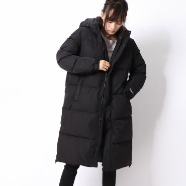 [GUESS] HOODED LONG DOWN JACKET