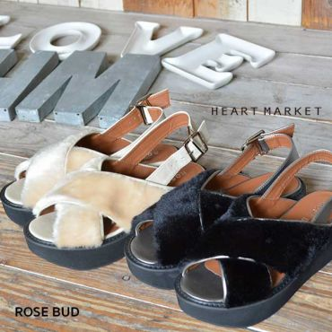 【ROSE BUD】 FAKE FUR SANDAL【HEART MARKET・ハートマーケット】